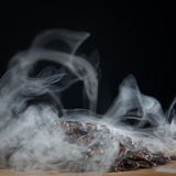 Roasted coffee with smoke Stock Photos