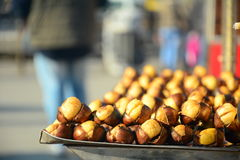 Roasted colorful chestnuts. In istanbul street Stock Photography
