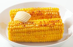 Roasted corn on the cob Royalty Free Stock Photo