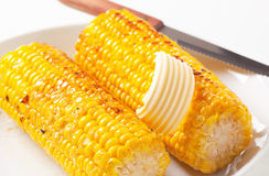 Roasted corn on the cob Royalty Free Stock Image