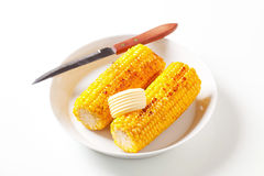 Roasted corn on the cob Royalty Free Stock Photography