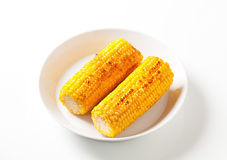 Roasted corn on the cob Royalty Free Stock Photos