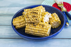 Roasted corn cobs Stock Photo
