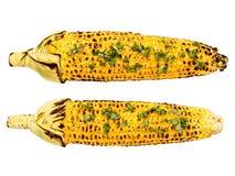 Roasted corncob isolated Stock Photo