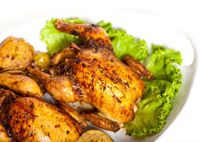 Roasted Cornish Hen stock image