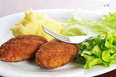 Roasted cutlets Royalty Free Stock Images
