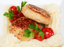 Roasted cutlets of chicken Royalty Free Stock Images