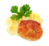 Roasted cutlets with potato Stock Image