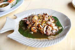 Roasted Cuttlefish with Tamarind Sauce Stock Images