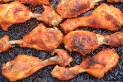 Roasted drumsticks. Royalty Free Stock Photo