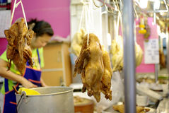 Roasted duck in asian market Stock Images