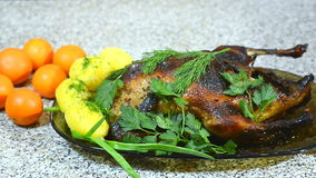 Roasted duck stock video footage