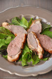 Roasted duck breast Stock Photography