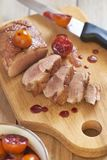 Roasted duck breast in citrus sauce Royalty Free Stock Photos