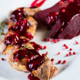 Roasted duck breast with cranberry sauce Royalty Free Stock Photography