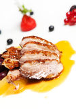 Roasted duck breast fillet Stock Image