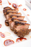 Roasted duck breast close up Stock Photo