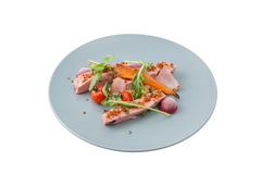 Roasted duck breast in modern style Stock Photography