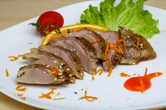 Roasted duck breast Royalty Free Stock Photo