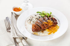 Roasted Duck Breast Royalty Free Stock Photography