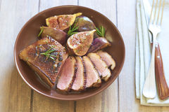 Free Roasted Duck Breast With Figs And Rosemary Stock Photo - 44675610