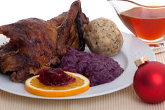 Roasted duck at christmas Stock Photography