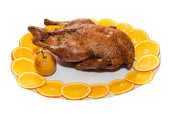 Roasted Duck; Clipping path Stock Images