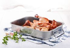 Roasted duck. Duckling tobacco or tapaka royalty free stock photos