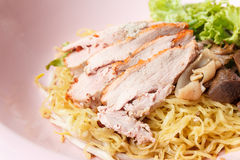 Roasted duck with egg noodles Royalty Free Stock Image