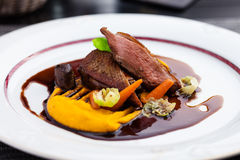 Roasted duck fillet Stock Photography