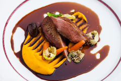 Roasted duck fillet Stock Photos