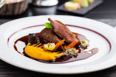 Roasted duck fillet Stock Images