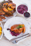Roasted duck Stock Photography
