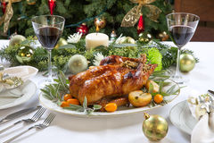 Roasted Duck for Holiday Stock Photography