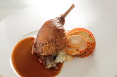 Roasted duck leg  Stock Images