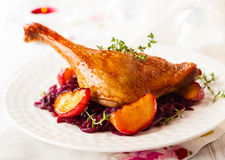 Roasted duck leg Royalty Free Stock Photo
