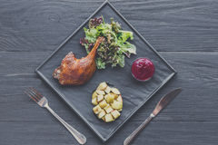 Free Roasted Duck Leg, Restaurant Food Closeup Stock Photography - 90424682