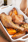 Roasted duck legs with vegetables Stock Images