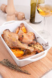 Roasted duck legs with white wine Stock Image