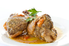 Roasted duck meat with sauce Royalty Free Stock Images