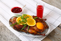 Roasted duck with orange Royalty Free Stock Image