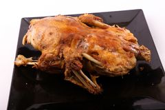 Roasted Duck. On a Plate stock images