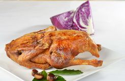Roasted duck with red cabbage Royalty Free Stock Photography