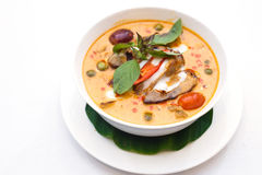 Roasted Duck Red curry. Stock Photos
