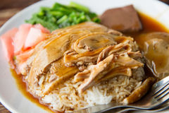 Roasted duck with rice Royalty Free Stock Photos
