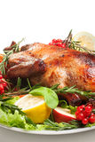 Roasted duck with vegetables Stock Photography