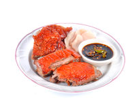 Roasted duck whit sauce Chinese food Royalty Free Stock Image