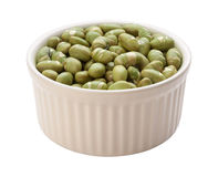 Roasted Edamame Beans Isolated clipping path Royalty Free Stock Image