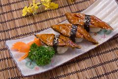 Roasted-Eel Broiled-River-Eel sushi Royalty Free Stock Photography