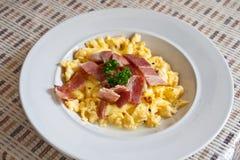Roasted egg, bacon Royalty Free Stock Images
